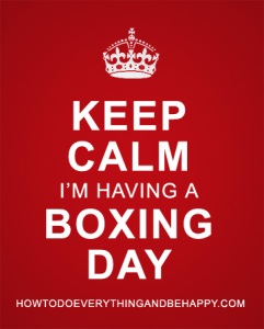 Why not post this image on facebook or twitter when you have your next Boxing Day?